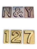 BRASS STAMPED LETTERS