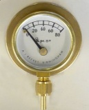 PRESSURE GAUGE FLANGED 3/4'' DIA 0-150 PSI