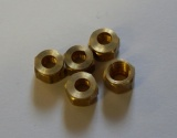 1/4'' X 40 NUTS FOR 1/8'' OR 5/32'' NIPPLES